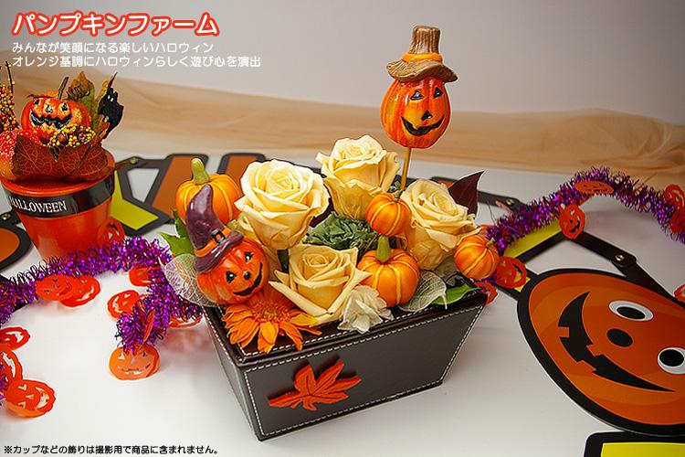 【10月20日新商品】パンプキンファーム(プリザーブドフラワーアレンジメント)